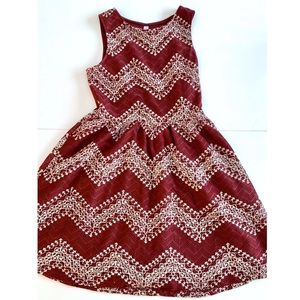 Crimson & Cream Dress